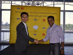 MTN and  Huawei demonstrate the first NB- IoT in Africa at AfricaCom in Cape Town.