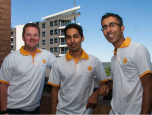 Carter co-founders, Tom Gardner, Amit Bholla and Vikash Govindjee.