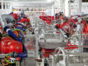 Tesla's fully automated factory. Could tech further deepen unemployment. (Source: Industry week)