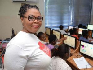 Ernestina Appiah, founder of the Ghana Code Club. (image: Ghana Code Club)