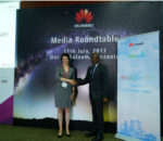 Dr. Bello Moussa, Director of Innovation and Industries Relations Huawei(Right) and Alix Murphy, Director of Partnerships WorldRemit(left)