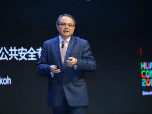 Hong-Eng Koh, Global Chief Public Safety Expert for Huawei Enterprise Business Group, explained collaborative public safety.