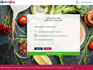 Pick n Pay shopping site