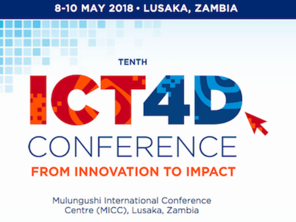 Facebook, WFP, USAID confirmed for plenary session at ICT4D Conference