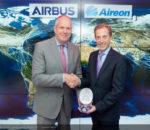 FIA 2018 Aireon Strategic partnership announcement day: Evert Dudok (Airbus) Don Thoma (Aireon)
