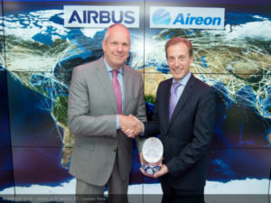 FIA 2018 Aireon Strategic partnership announcement day: Evert Dudok (Airbus) Don Thoma (Aireon)