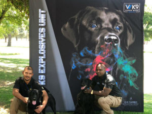 Demonstrating the latest K9 explosive detection tech at Securex 2019