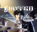 Judgement promotional art featuring protagonist Takayuki Yagami.