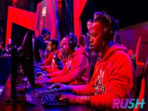 An e-sports team competing for the top prize