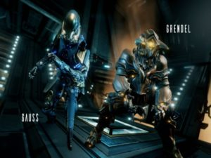 Gauss (left) and Grendel (right), the two new Warframes being added to the game. Image sourced from Warframe.