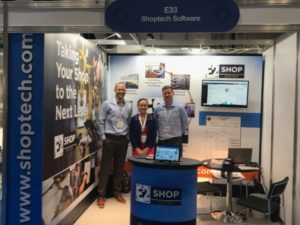 The Shoptech booth at the SUBCON 2019 in the UK. Image sourced from Twitter.