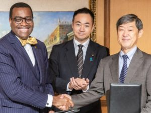 Japan and the African Development Bank have announced a joint target of $3.5 billion to help Africa's private development sector. Health, electricity and transport have been identified as key priorities. Image sourced from the African Development Bank Group.