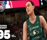 In-game screenshot of Breanna Stewart, power forward/center for the Seattle Storm, in NBA 2K20. Image sourced from NBA 2K.