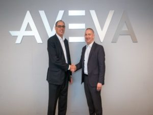 Worley CEO Andrew Wood (left) together with AVEVA CEO Craig Hayman (right)