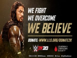 2K Games announces a new partnership with the Leukemia & Lymphoma Society