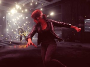 Jesse uses her Launch ability to throw projectiles at enemies. Image sourced from Remedy Entertainment.